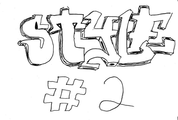 how to draw your name in graffiti step by step
