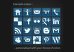 create a custom social media ICONSET in png or vector small2