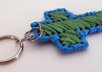 send 1 handcrafted plarn cross key chain to your US address small2