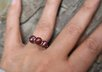 make a sterling silver cranberry faceted cut Pearl ring small2