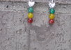 make you jade heart  Rasta earrings small2