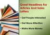 write 5 headlines for your next sales letter small2
