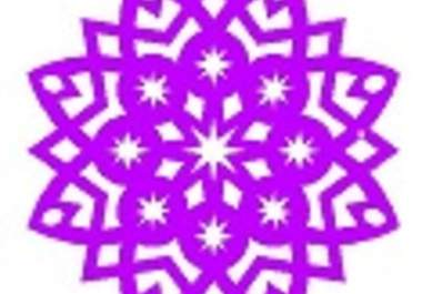 Folding Kirigami Valentine Snowflake patterns for Children