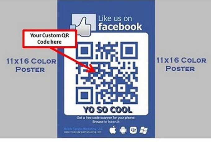 will create a QR Code Linked To Your Facebook Like Us Button for $5