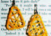 make beautiful earrings out of your favorite color thread small2