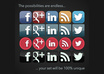 create a custom social media ICONSET in png or vector small3