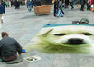 create sidewalk art illusion of your pic in busy city small3