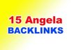 create 15 Angela Backlinks with  4-8 PR