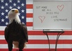 take a picture of my bald eagle, Eddie, with your message small1