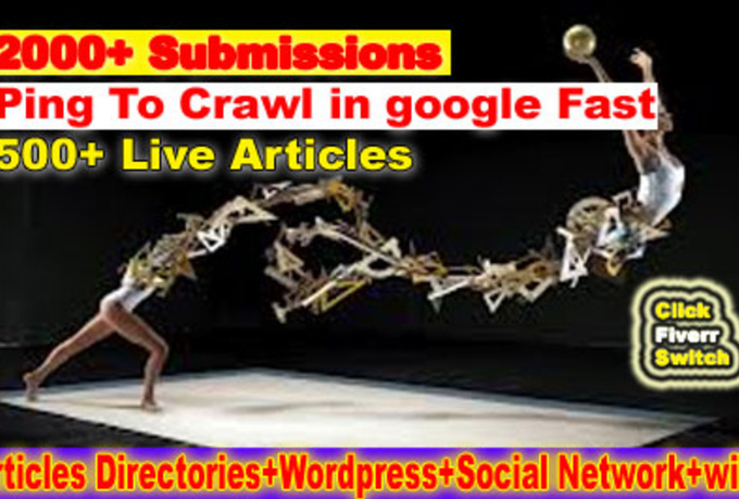 spin and Submit Article to 2000+ Directories, 500 Instant Backlinks, 500 Live URLs, Free Ping to Crawl in Search Engine