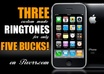create THREE custom made ringtones small1