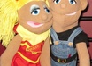 as 2 puppets couple promote, review, sing happy birthday or say anything in a High def video small1