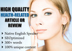 write a SEO 300 word review of your health related product or service and permanently place it on my blog with backlinks