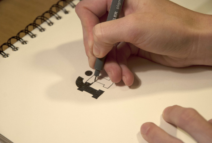 create short stop motion video of your logo drawing