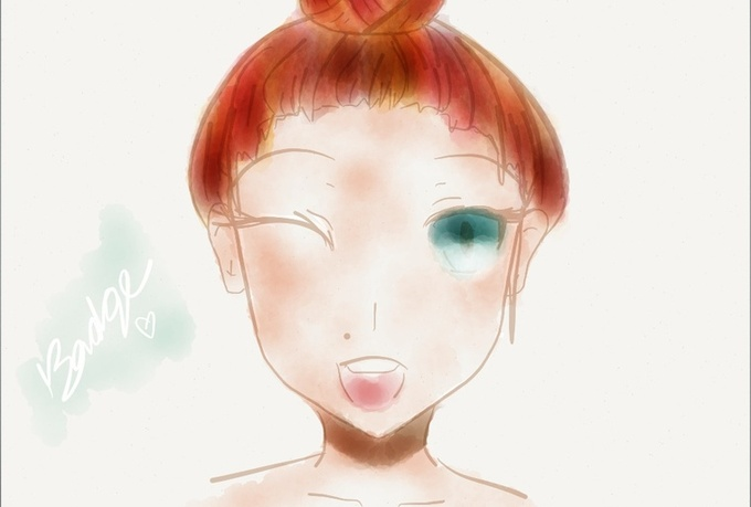 paint you as an anime character with watercolors