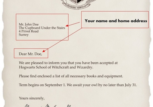 image relating to Printable Hogwarts Letter identify Printable Hogwarts Level of popularity Letter Crna Protect Letter