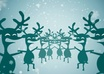 personalize this Cheerful, Dancing Reindeer and Santa filled,  HOLIDAY Video Greeting small1