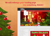 design your website landing page in the spirit of Christmas