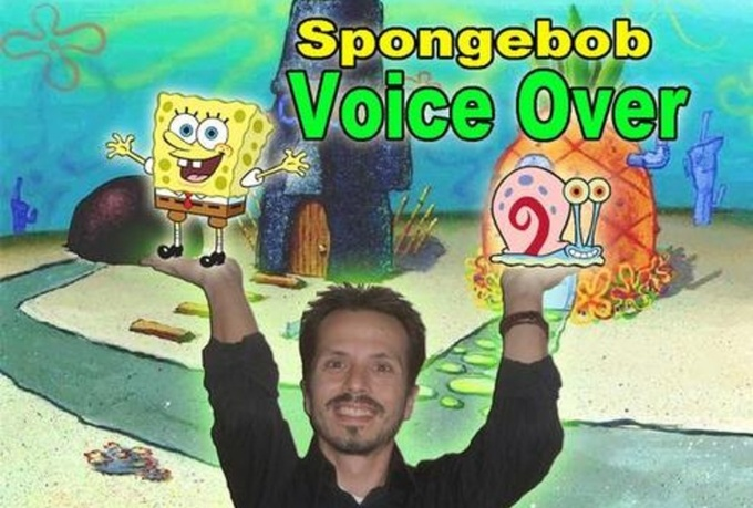 voice a special message as Spongebob for any occasion