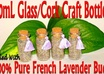 send you 4 tasseled 10mL sized Glass and Cork craft bottles filled with French LAVENDER buds