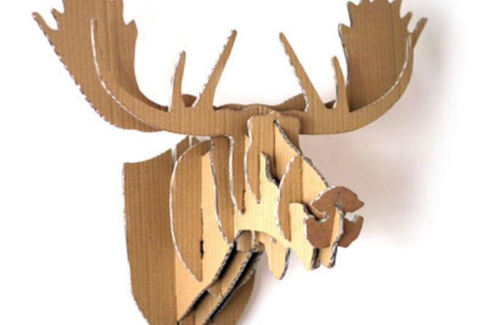 make you a cardboard moose head