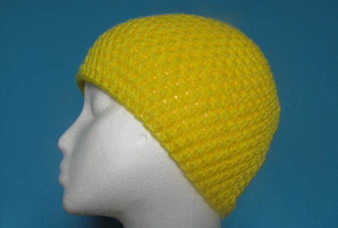crochet a simple solid color beanie