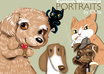 create a FIVERR exclusive whimsical illustration of your pet small1