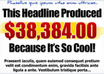 create a customizable Headline, Header graphics, highlight graphics and Guarantee certificates graphics