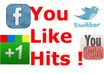 provide you 2 Youlikehits accounts with 5500 points total in 24 Hours