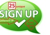give you 25 unique sign ups Usa,Uk,Canada by different ip using under your referral link