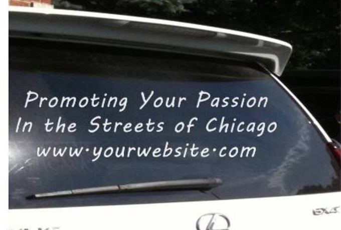 advertise your business on my Lexus window or door with magnet, cards extra