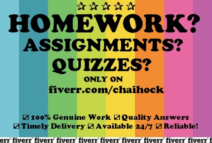 will do your homework, assignments, projects, essay for $5