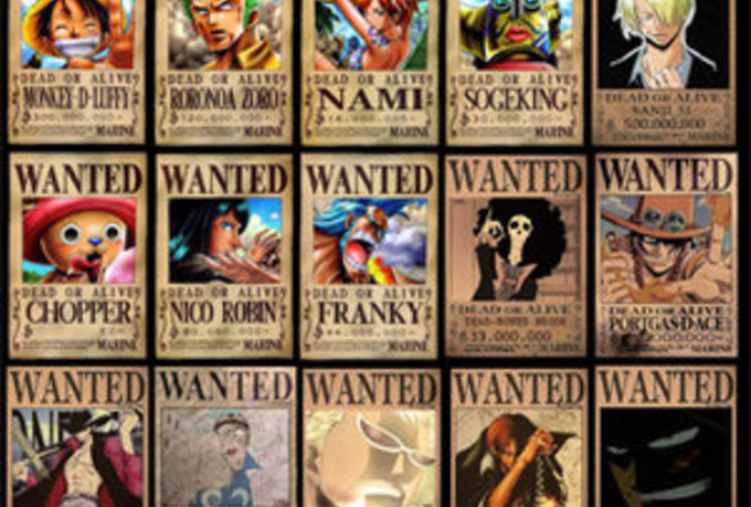 One Piece Wanted Poster Generator One Piece Wanted Poster