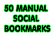 maNUALLY submit your site to high page rank 50 social  bookmarking sites + ping