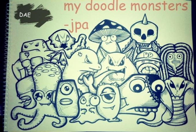 make a cool doodle fiverr