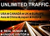 provide secret list resources for big traffic from Asia,USA,Uk,Canada,Europe,China,of over 11000000 real human,unique visitor for website