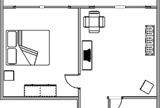 Create a simple and professional single page floor plan for Create own floor plan