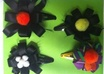make you 4 Mini Flower Hair Clips