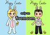 draw you as the cutest ever EASTER themed chibis couple, 2 chibis small1