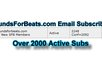 email blast a brief ad or shoutout to over 2000 of my music producer subscribers