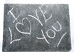 write a message in chalk on slate
