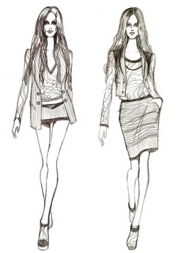 I will design casual clothes 10$/peace Pensilsketchesresize
