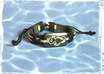 send 1 Black Real Leather and Hemp Seahorse Bracelet
