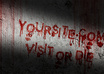 design horror website banner