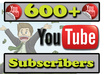 give you 600 + youtube subscribers, all youtube subscribers deliver within 24hrs