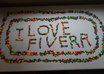 custom design any message or advertisement using colorful skittles candy