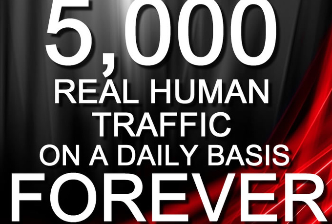 guarantee you over 5,000 daily targeted traffic to your site everyday FOREVER