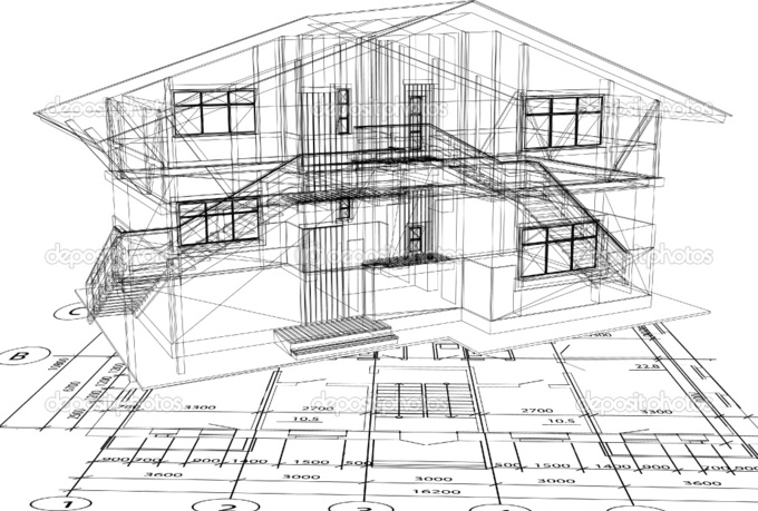 drow you Any Autocad Plan 2D, 3D - fiverr