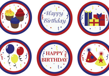 Design Different Happy Birthday Themed Cupcake Toppers Jpg 380x265 Templates