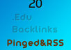 create High Quality 20 .edu backlinks